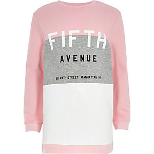 Fifth Avenue – Langes, pinkes Sweatshirt