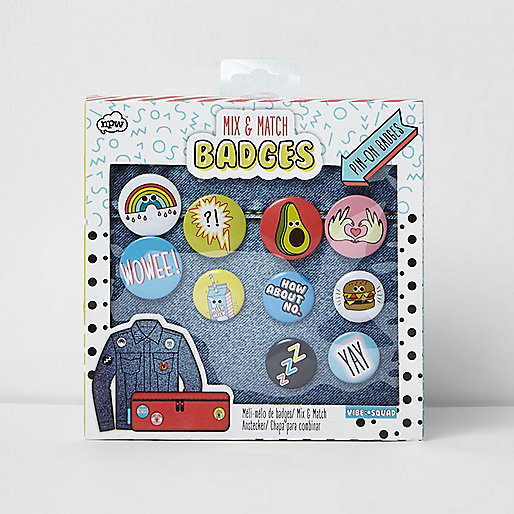 Girls pink mix and match badge pack