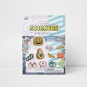 Girls pink puff stickers multi pack