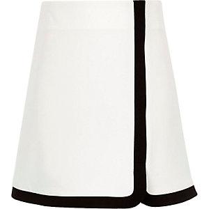 Jupe trapèze blanche monochrome pour fille