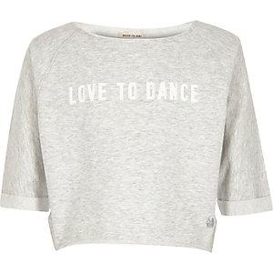 RI Active – Hellgraues, bedrucktes Sweatshirt