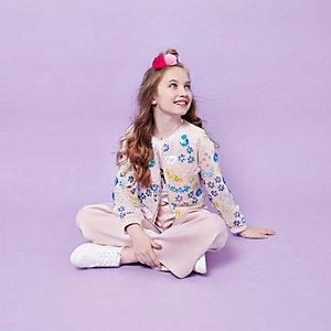 RI Studio – Veste crème à sequins pour fille