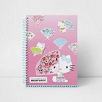 Girls pink Hello Kitty notebook
