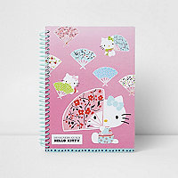 Girls pink Hello Kitty notebook