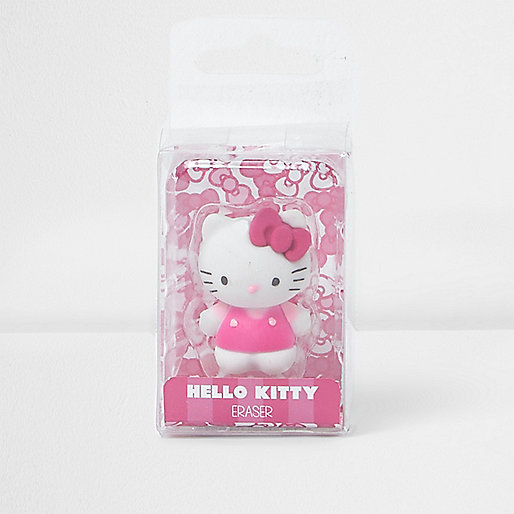 Girls pink Hello Kitty eraser
