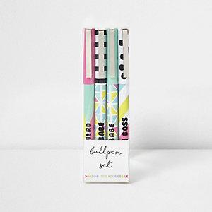 Lot de stylos bille multicolores