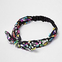 Girls multi color sequin hairband