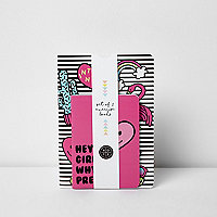 Girls pink printed notebook two pack