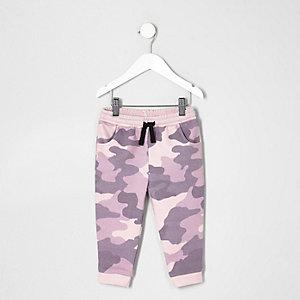 Pantalon de jogging à imprimé camouflage rose mini fille