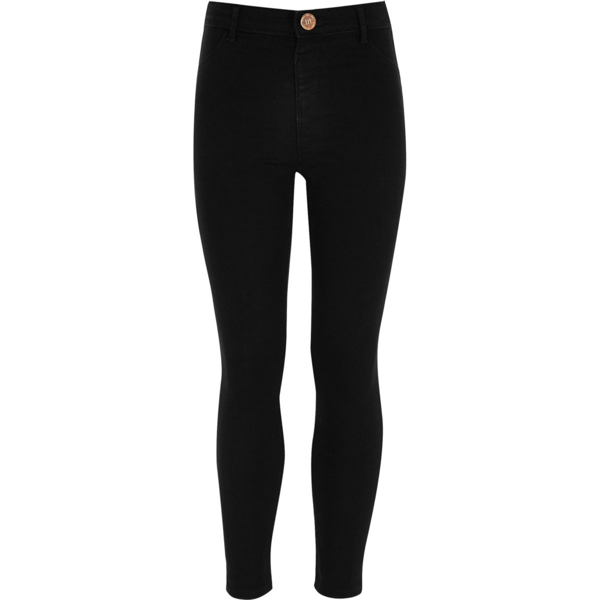 Girls black denim Molly jeggings