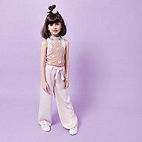 Girls RI Studio pink palazzo trousers