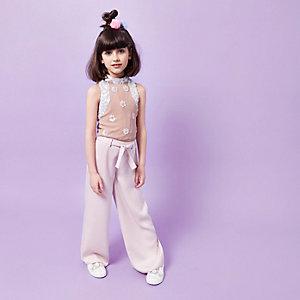 Girls RI Studio pink palazzo pants