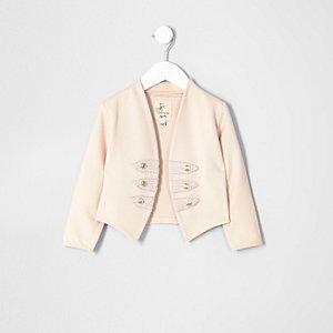 Mini girls pink military jacket