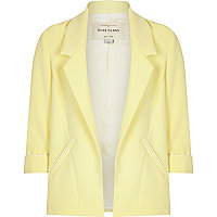 Girls yellow smart blazer