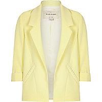 Girls yellow smart blazer