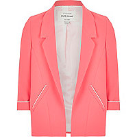 Girls coral smart blazer