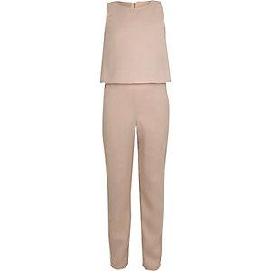 Pinker Jumpsuit im Lagen-Look