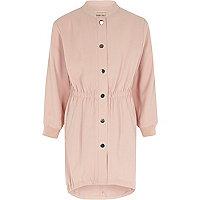 Girls pink tailored parka