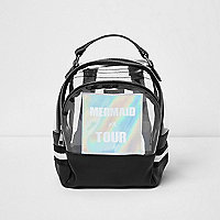 Girls silver clear 'mermaid' backpack