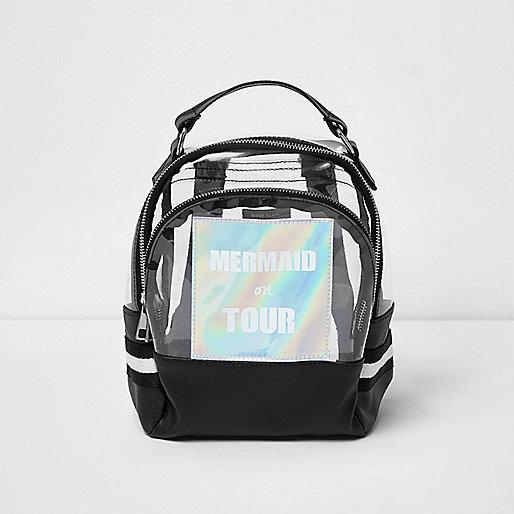 Girls silver clear 'mermaid' backpack