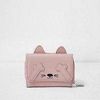 Girls pink cat purse
