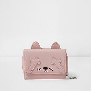 Girls pink cat purse