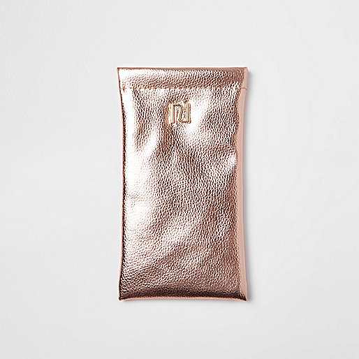 Girls rose gold sunglasses case