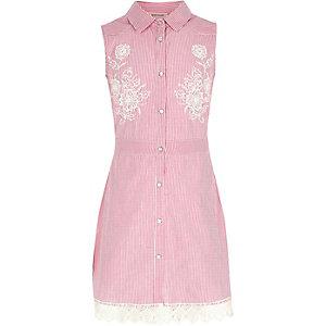 Pinkes, gestreiftes Kleid