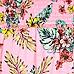 Girls pink tropical print bardot swing top