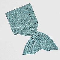 Girls blue mermaid blanket