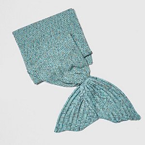 Girls blue mermaid blanket