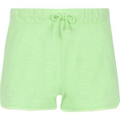 Groene short met kant voor meisjes