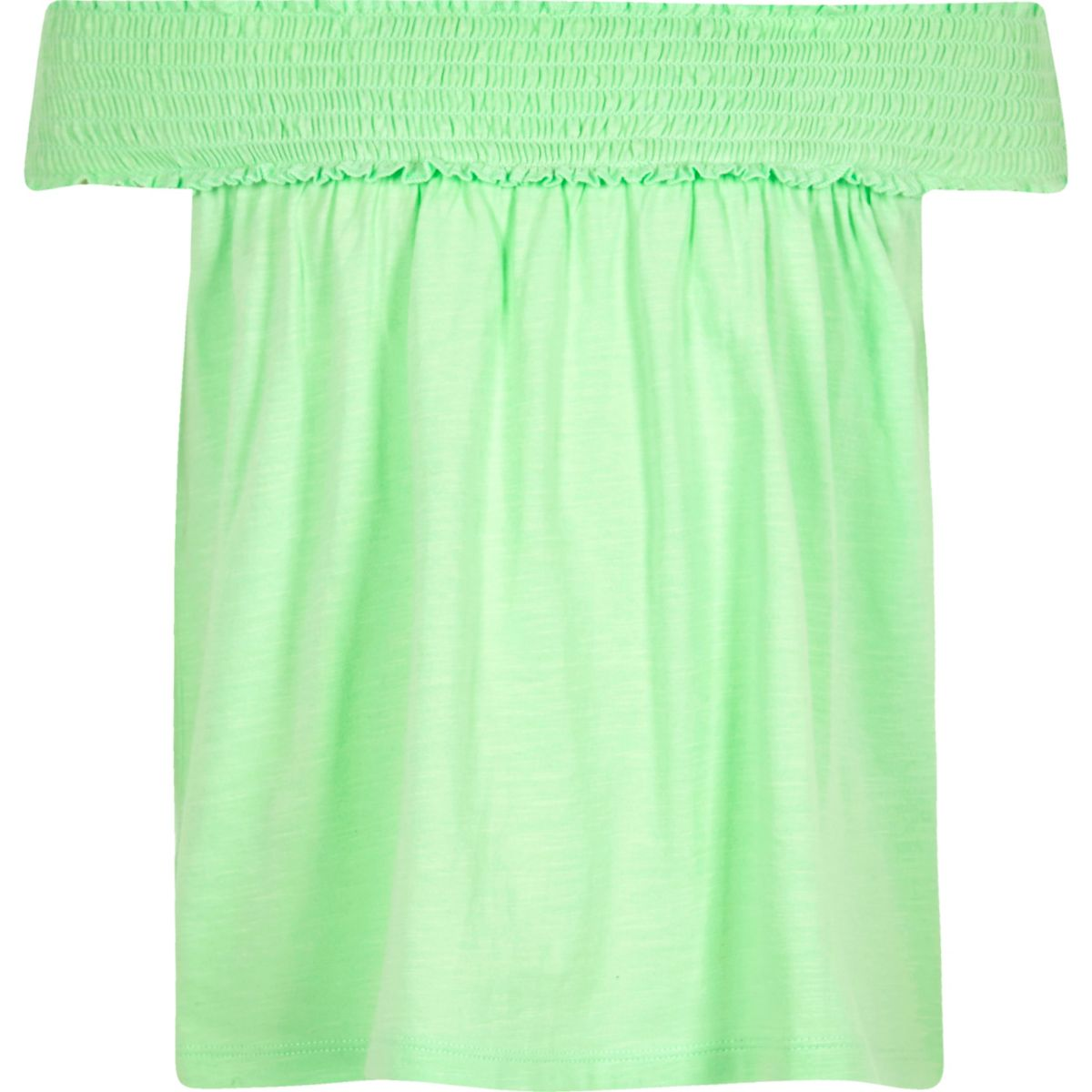 Grünes Bardot-Oberteil