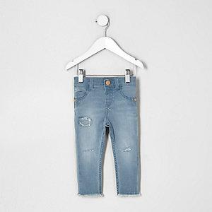 Mini - Molly blauwe ripped skinny jeans voor meisjes