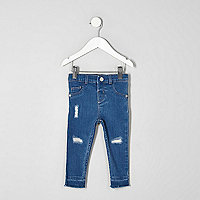 Mini - Blauwe Molly ripped jeans voor meisjes