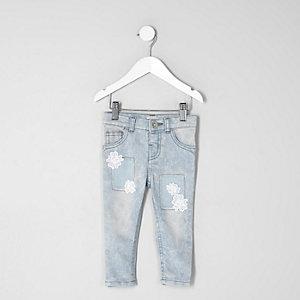 Mini - Amelie acid wash gehaakte jeans voor meisjes