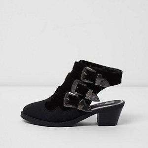 Zwarte sandalen met hielbandje voor meisjes