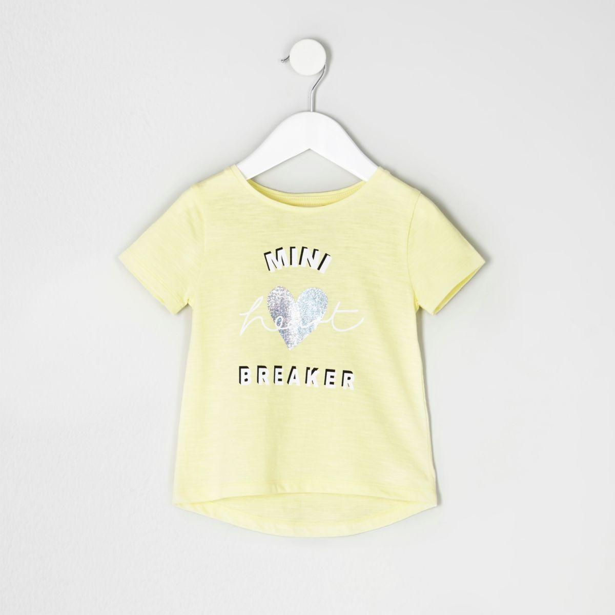 Mini girls yellow printed T-shirt multipack