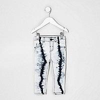 Mini girls white tie dye Amelie skinny jeans