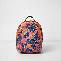 Girls orange tropical print backpack