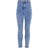 Girls blue high waisted Molly jeggings