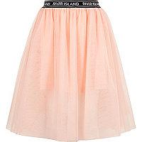 Girls RI Active pink mesh ballet midi skirt