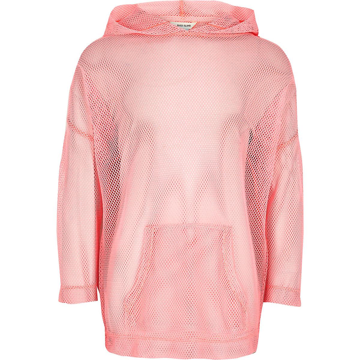 d8fa5aa4e2223 RI Active – Sweat à capuche « move it » en tulle rose pour fille ...
