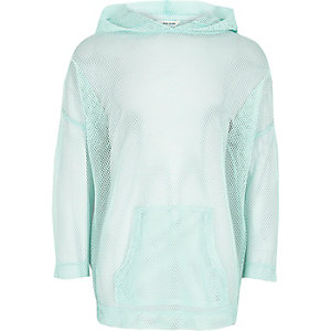 Girls RI Active green 'Move It' mesh hoody