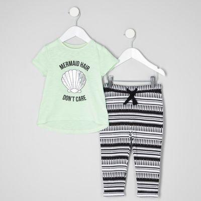 Mini Outfit met zeemeermin T-shirt en joggingbroek voor meisjes