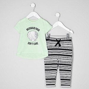 Ensemble pantalon de jogging et t-shirt motif sirène mini fille