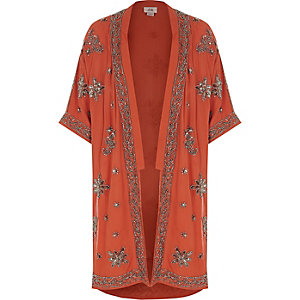 Roestoranje verfraaide kimono voor meisjes