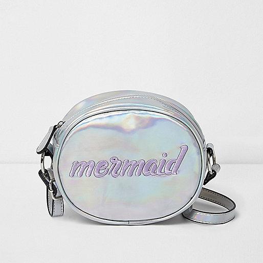 silberne runde tasche mermaid holiday shop sale m dchen. Black Bedroom Furniture Sets. Home Design Ideas