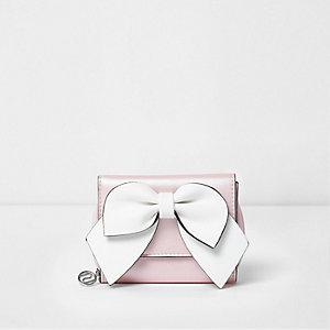Roze portemonnee met strik voor meisjes