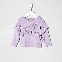 Mini girls purple frill sweatshirt